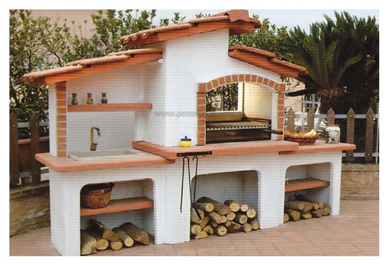 Barbecue design pmc prefabbricati e arredo giardino - Bagni prefabbricati per esterno ...